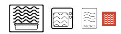 símbolo uso en microondas